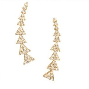 Stella and Dot Pave Gold Ear Climbers